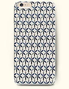 Blue And Black Floral Pattern - Geometric Pattern - Phone Cover for Apple iPhone 6 Plus ( 5.5 inches ) - SevenArc ...