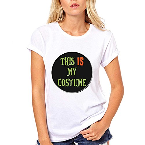 [GullPrint Women's Halloween This Is My Costume T Shirt X-Large White] (Witch Coustumes)
