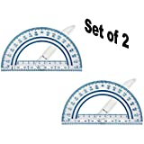 "Fiskars Swing Arm Protractor, Color Received May Vary (12-95400J) (6"" (2 Pack))"
