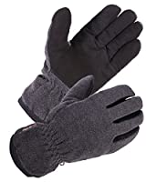 SKYDEERE Winter Glove with Warm Deerskin Suede Leather and Thick Windproof Polar Fleece