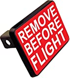 REMOVE BEFORE FLIGHT Trailer Hitch Cover Plug Funny Airforce Plane Novelty