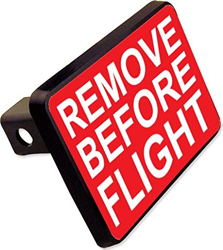 REMOVE BEFORE FLIGHT Trailer Hitch Cover Plug Funny Airforce Plane Novelty cheapyardsigns