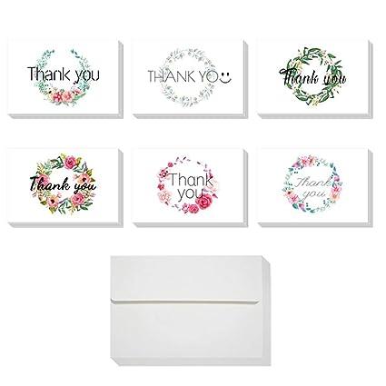 24 tarjetas de agradecimiento con tarro plegado, tarjeta de ...