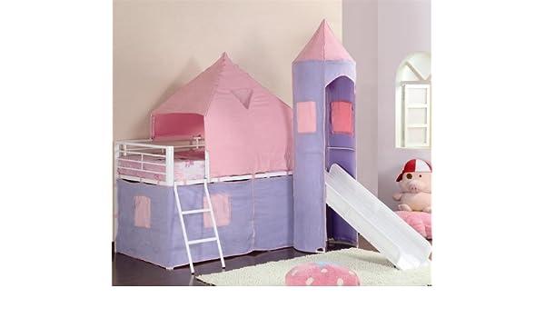 Posavasos muebles litera princesa castillo tienda izquierda cama - morado y rosa: Amazon.es: Hogar