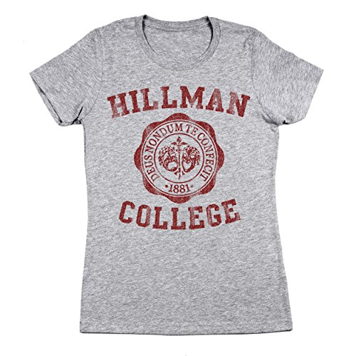 Funny Threads Outlet Hillman College University Seal School Costume Uniform Womens Shirt Small (Uniform Outlet Store)