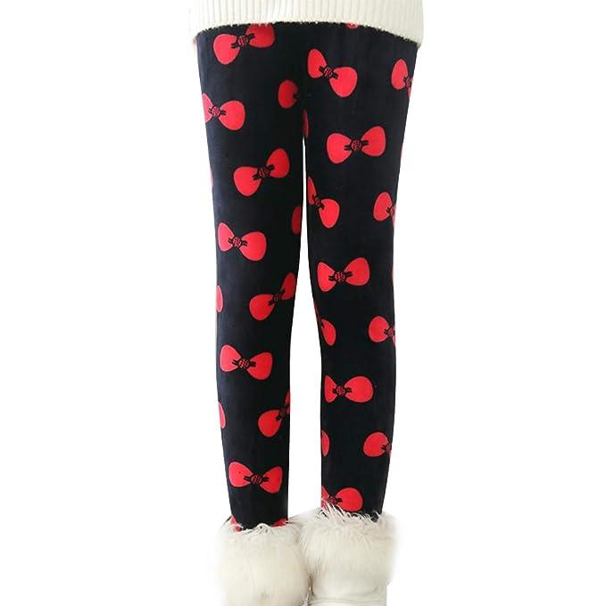 YESET Bambini Termo Ragazza Leggins Pantaloni Lunghi di Cotone Fodera Pile