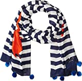 Kate Spade New York Women's Hanging Crab Oblong Scarf, French Navy, One Size
