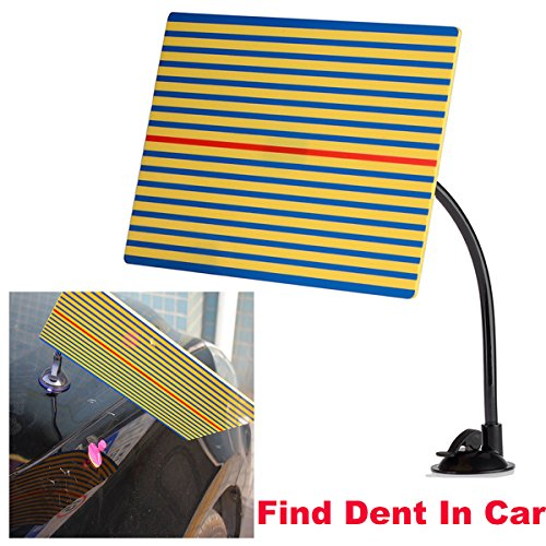 Super PDR Stripe Reflector Board Paintless Dent Removal Repair Tool with Ajustment Holder Yellow