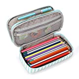 BTSKY Floral Pencil Case with Compartments --High