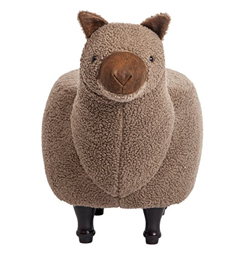 PIQUU Padded Soft Llama Ottoman Footrest Stool/Bench for Kids Gift and Adults (Brown) by PIQUU