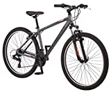 Schwinn High Timber AL Mountain Bike with Front-Suspension Fork, Lightweight Step-Over Aluminum Frame, 21-Speed Shimano Drivetrain, 27.5-Inch Wheels, Grey