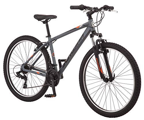 Schwinn High Timber Mountain Bike, Aluminum Frame, 27-5-Inch Wheels, Grey