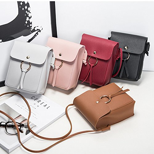 for with Gifts Little Small Shoulder Leather Buckle Bag PU Pink Daliuing Women Girls Hand Birthday Bag Cross bags Magnetic HfqwFCfZx
