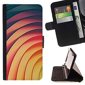 - Queen Pattern FOR Samsung Galaxy S5 Mini, SM-G800 /La identificaci????n del cr????dito ranuras para tarjetas tir????n de la caja Cartera de cuero cubie - vortex lines yellow tea