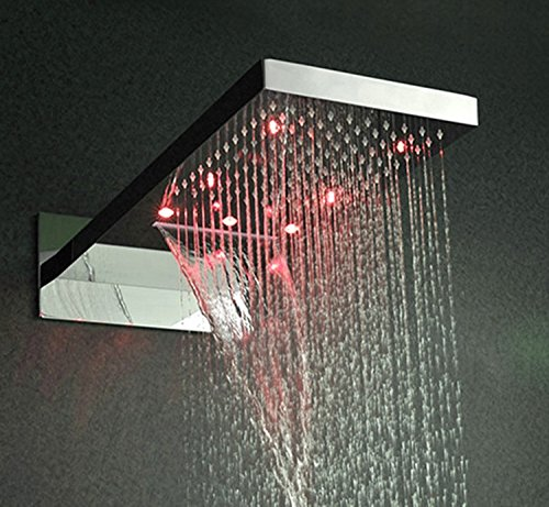 Gowe bathroom shower set,with body spray wall mounted rainfall waterfall LED shower system 2
