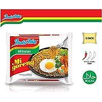 Indomie Mi Goreng Instant Stir Fry Noodles, Halal Certified, Original Flavor (Pack of 5)