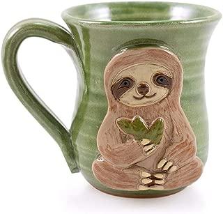 product image for Three-Toed Sloth Mug - American Made Stoneware Pottery, 14-oz