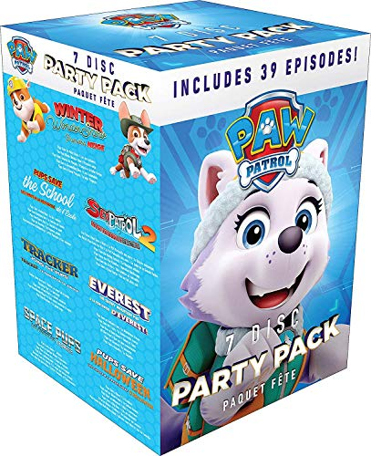 PAW Patrol 7 Disc Party Pack (39 Episodes) - DVD Box set