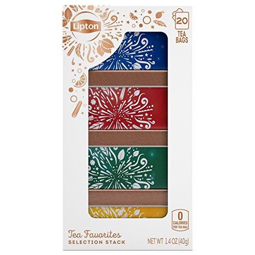 Lipton Selection Stack Tea Gift Set, Variety Pack 20 ct by Lipton