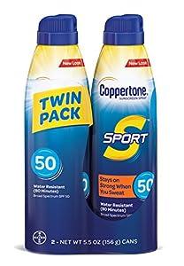 Coppertone SPORT Continuous Sunscreen Spray Broad Spectrum SPF 50