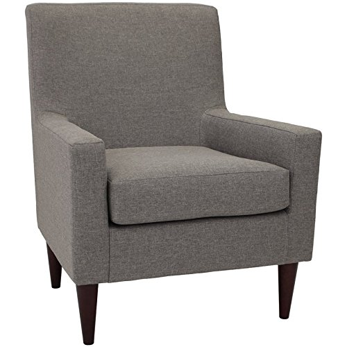 Charismatic Club Armchair in Dark Cherry Finish, Ideal for Living Room, Features Dapper Design that Showcases a Boxy Silhouette with a Slightly Slanted Backrest, Quartz + Expert Guide -