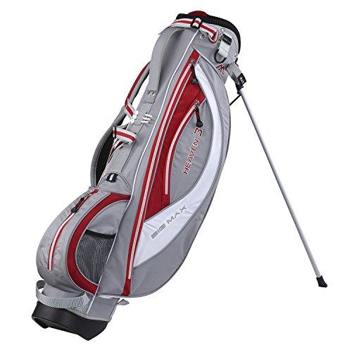 BIG MAX Heaven 3 Golf Standbag - Ultraleichte Golftasche - 2015 Design (Silber/Rot/Weiß)