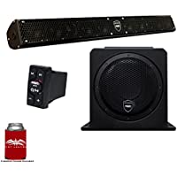 Wet Sounds Stealth 10 Surge Sound Bar w/WW-BTRS Bluetooth Controller and AS-10 10 500 Watt Powered Stealth Subwoofer