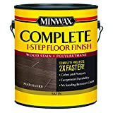 Minwax 672050000 Series 67205 1G Satin Aged Leather Complete 1-Step Floor Finish, 1 Gallon