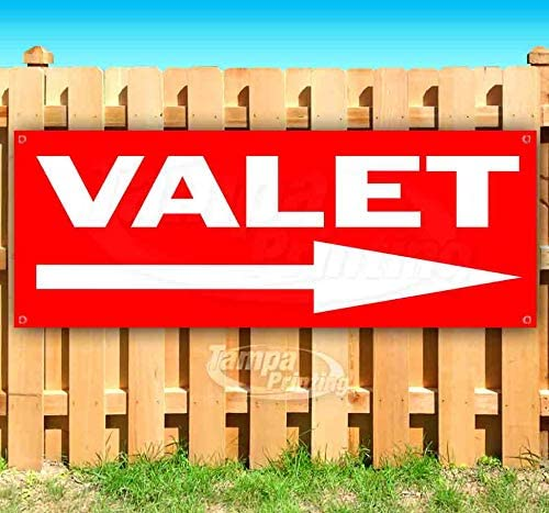 Valet 13 oz Heavy Duty Vinyl Banner Sign with Metal Grommets Advertising Store Many Sizes Available New Flag,