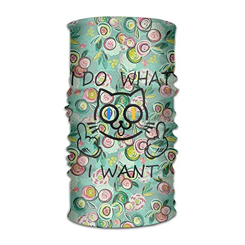I Do What I Want Funny CatOutdoor Magic Headwear For Fitness Fast Sweat Fast Dry,Hat Beanie Scarf Headbands For Sport Headwear Scarf Face Masks Sports Head - Size I Wear Sunglasses Do What
