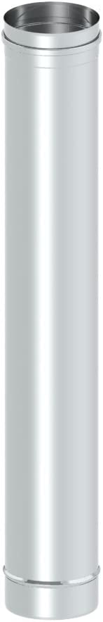 Schornstein Schornsteinrohr EW einwandig Edelstahl /Ø 200mm; 0,6mm Wandst/ärke 500mm L/änge