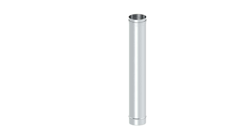 Einwandig Schornstein Längenelement 250 mm Edelstahl Rohr Sanierung Kamin