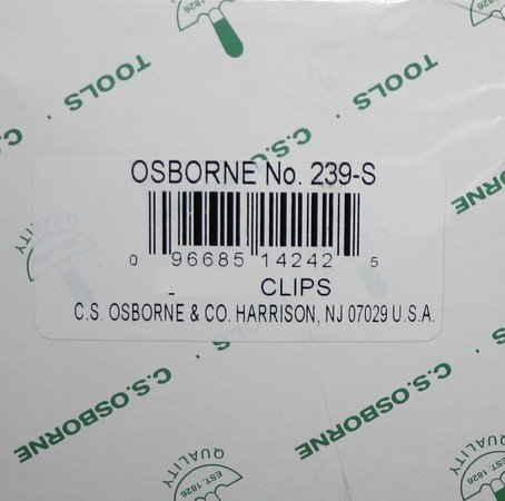C.S.Osborne Rubber Webbing Clips No. 239-S (10 Pack) MPN # 63006 / MADE IN USA by C. S. Osborne & Co. Photo #6