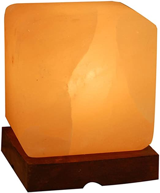 Cubo de Fuego Cristal Sal Lámpara Purificadora Aire Natural ...