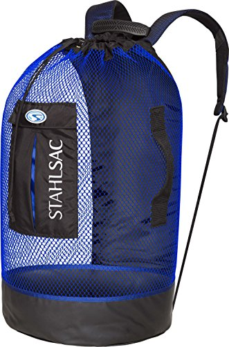Stahlsac by Bare Panama Mesh Backpack (Black/Blue)