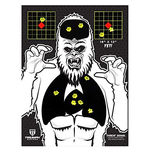 "Triumph Systems Visual Vital Yeti Splatter Target   40-Pack   16"" x 12""   BB Gun   Sight in Target   Adhesive Shooting Target   Sling Shot Target   Firearm Targets"