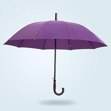 Paraguas doble mango largo paraguas automático paraguas soleado super resistentes viento hombres y mujeres (Color
