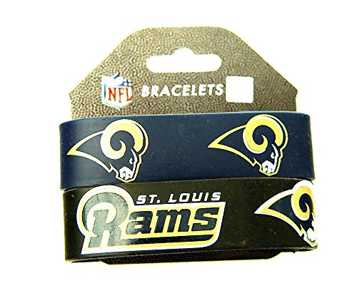 (NFL St. Louis Rams Silicone Rubber Bracelet, 2-pack)