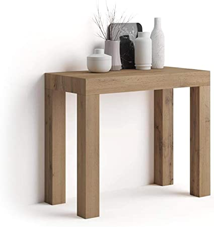 Mobilifiver Mesa Consola Extensible, Modelo First, Color Madera Rustica, 90 x 45 x 75 cm: Amazon.es: Hogar
