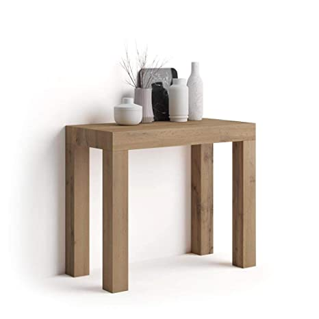 Table Console Extensible Bois.Mobili Fiver Table Console Extensible First Bois Rustique 90 X 45 X 76 Cm Made In Italy