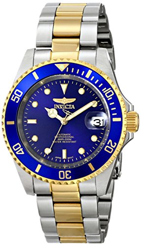 Invicta-Unisex-Armbanduhr-Analog-Automatik-Edelstahl-beschichtet-8928OB