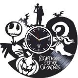 Cheap Best Gift for Kids, Nightmare Before Christmas, Vinyl Wall Clock, Gift For Kids, Vinyl Record, Kovides, Nursery Decor, Silent, Jack Song, Handmade Clock,Wall Sticker, Wall Clock Modern