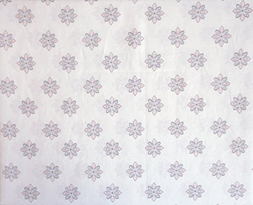 Tahari Home Kids 3 Piece Cotton Twin Sheet Set Small Geometric Medallions Pastel Pink Light Purple on ()