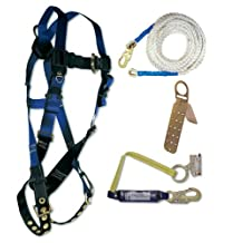 FallTech 7595A Contractor Harness with Roofer's Kit, Universal Fit