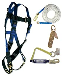 FallTech 7595A Contractor Harness with Roofer\'s Kit, Universal Fit