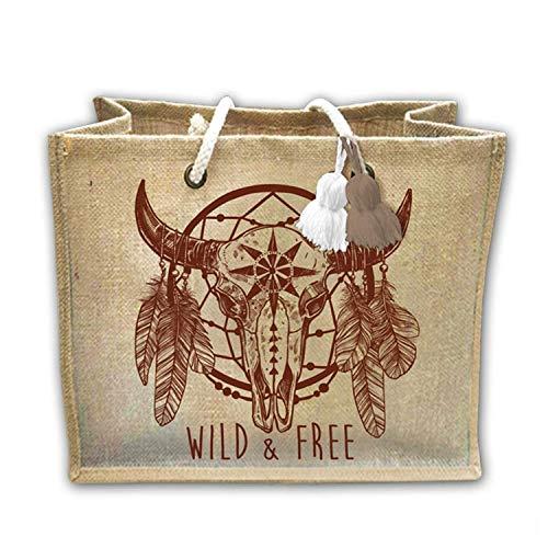 Free Cabas Jute Sac Wild De Toile E8q1wC