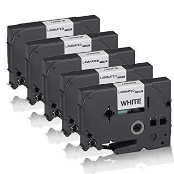 2x Premium kompatible Schriftbänder für Brother P-Touch-1005-BTS TZE221 9MM x 8M