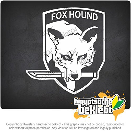 "Fox Hound 4,3"" x 3,9"" 15 COLORS - Neon + Chrome! Decal Sticker Bumper Cut Vinyl Motorcycle"