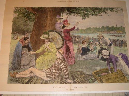 Regatta Henley (1888 Tinted Engraving