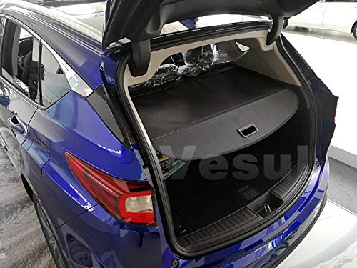 Vesul Black Tonneau Cover Retractable Rear Trunk Cargo Luggage Security Shade Cover Shield Compatible with Acura RDX 2019 2020